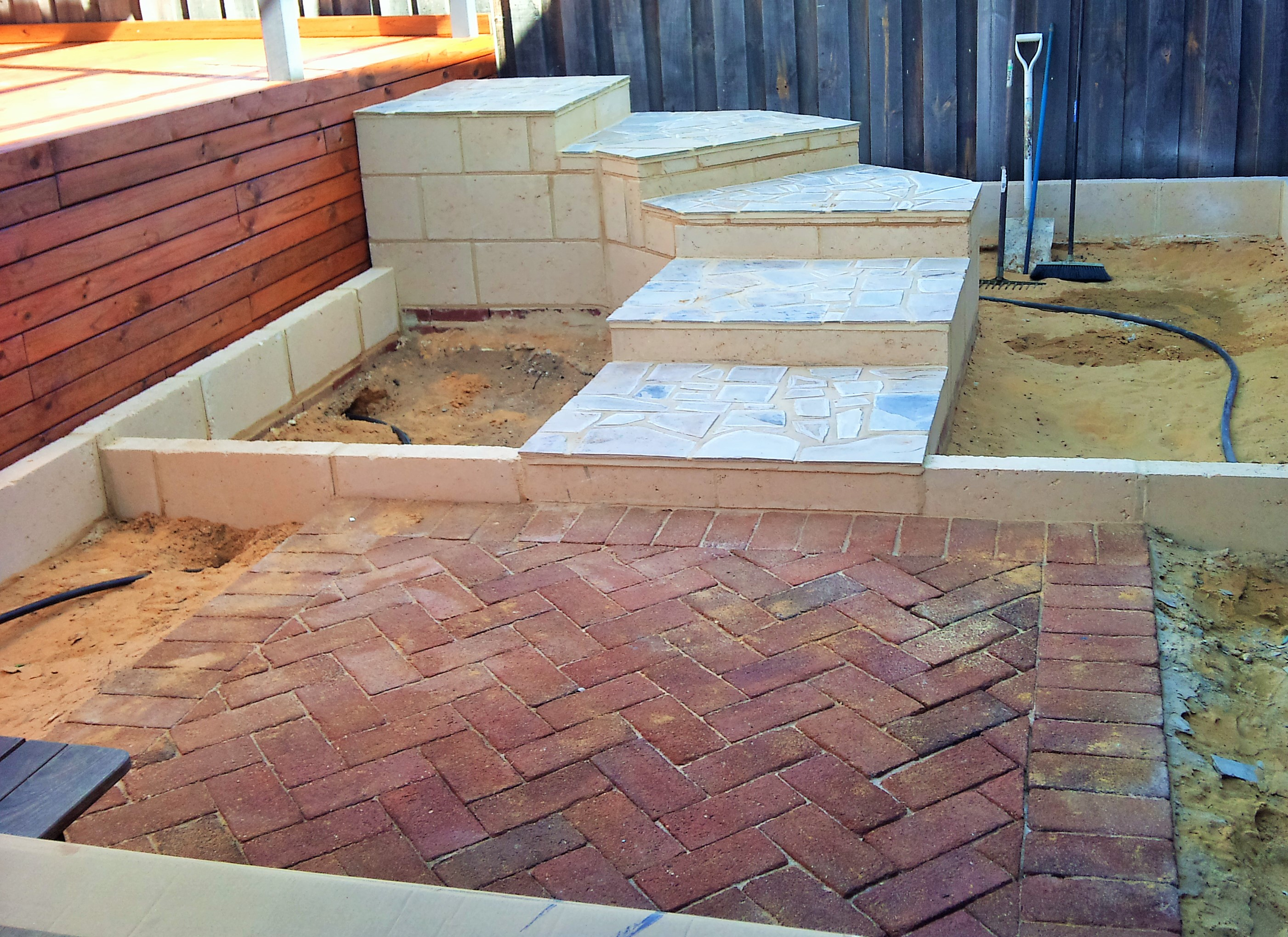 Steps ace brick and stonework stonemasons for Paving and landscaping adelaide