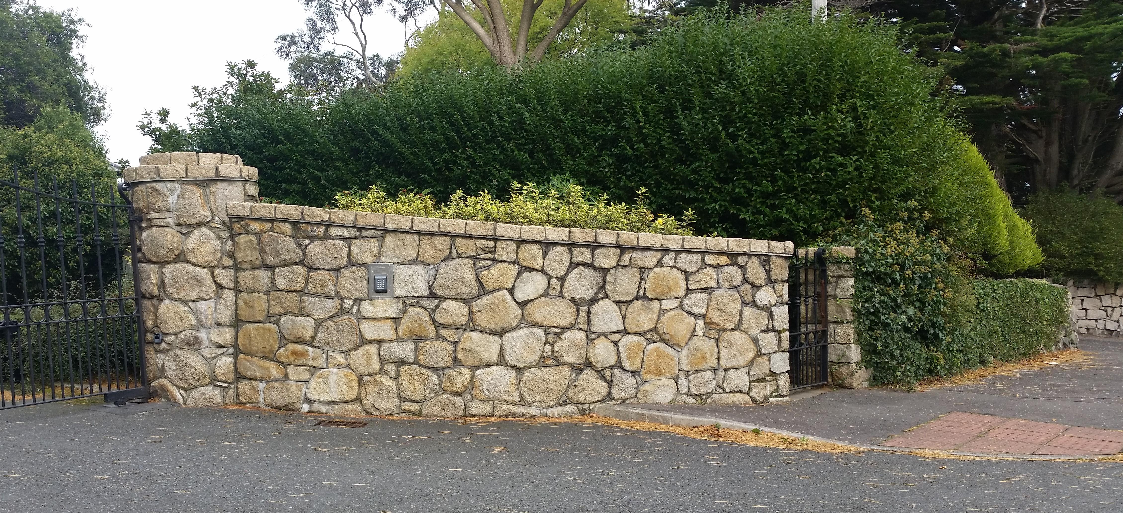 Stonemasonry Entrance Wall UK